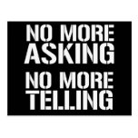 No More Asking No More Telling Postcard