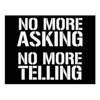 No More Asking No More Telling Post Card