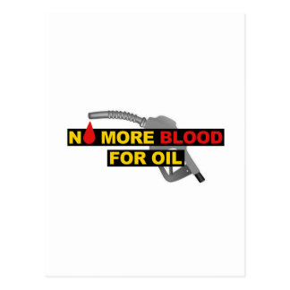 No More Blood for Oil Postcard