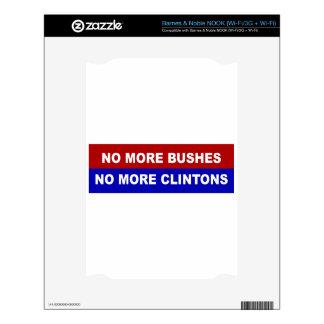 No More Bushes, No More Clintons Decals For NOOK