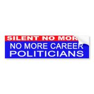 No More Career Politicians bumper sticker bumpersticker