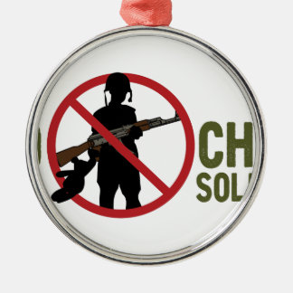 No More Child Soldiers Metal Ornament