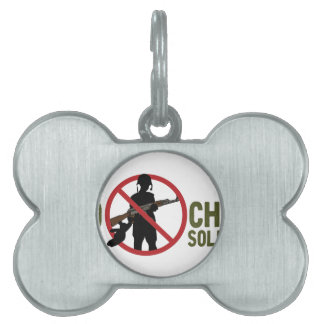 No More Child Soldiers Pet Tag