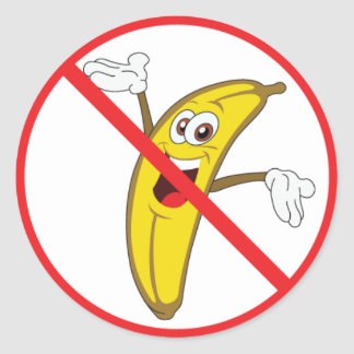 No More Clueless Bananaheads! Classic Round Sticker