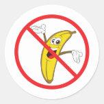 No More Clueless Bananaheads! Classic Round Sticker