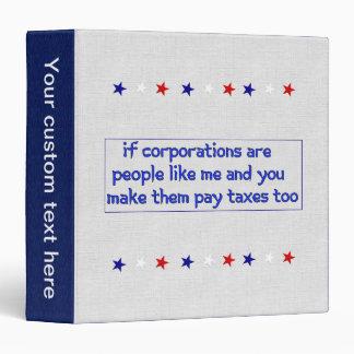 No More Corporate Welfare Binder