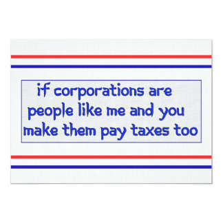 No More Corporate Welfare Card