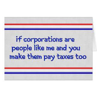 No More Corporate Welfare Card