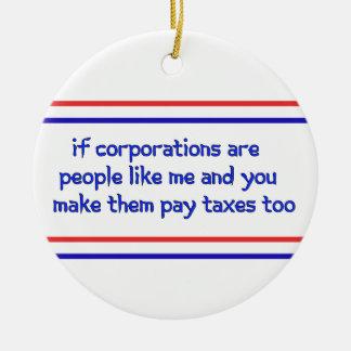 No More Corporate Welfare Christmas Ornament