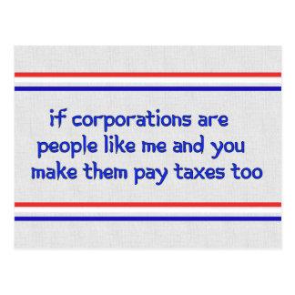 No More Corporate Welfare Postcard
