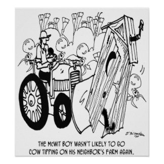 No More Cow Tipping Poster
