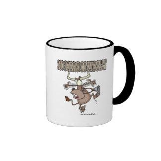 no more cowbell funny crazy cow cartoon coffee mug