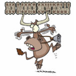 no more cowbell funny crazy cow cartoon photo cutouts