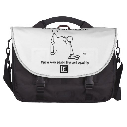 No More Domestic Violence Laptop Commuter Bag