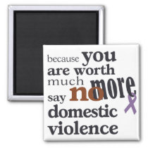 No More Domestic Violence Magnet