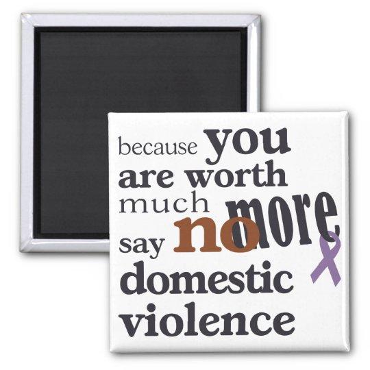 No More Domestic Violence Magnet