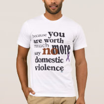 No More Domestic Violence T-Shirt
