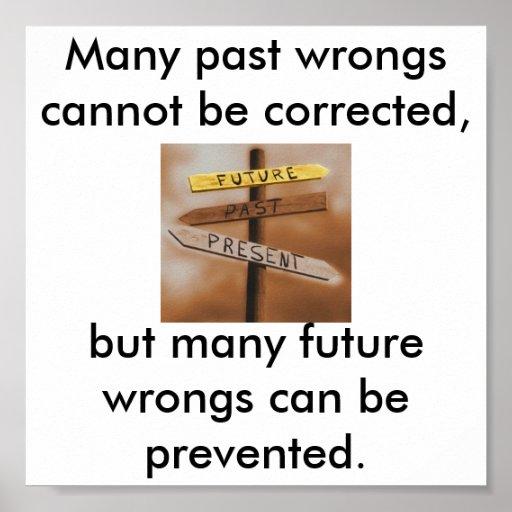 ¡No more en el pasado, cambian el futuro! Póster