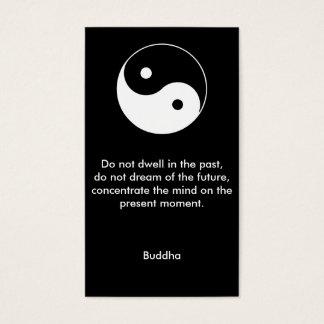 No more en el pasado - cita de Buda Tarjetas De Visita