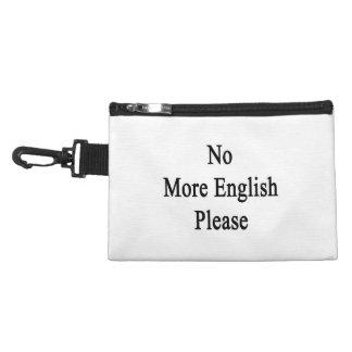 No More English Please Accessory Bags