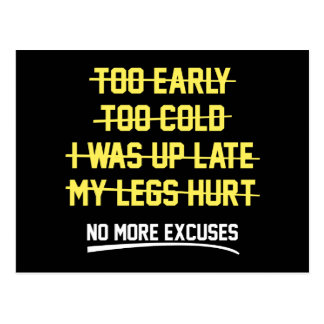 No More Excuses Postcard