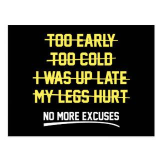 No More Excuses Postcard