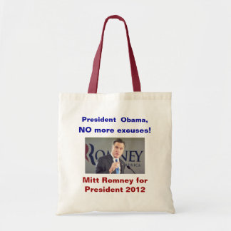 No More Excuses Romney Bag