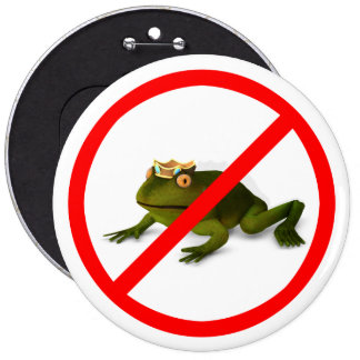 No More Frogs! 6 Inch Round Button