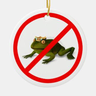 No More Frogs! Ceramic Ornament