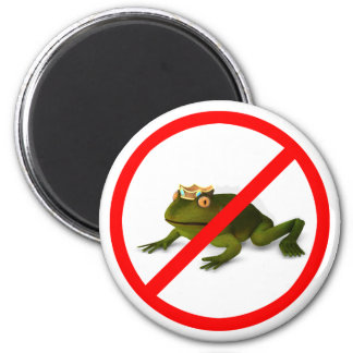No More Frogs! 2 Inch Round Magnet