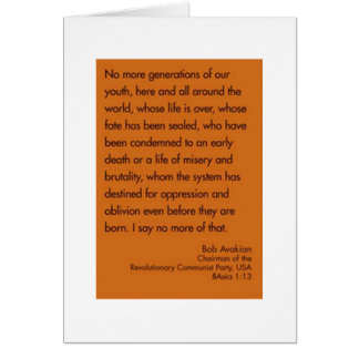 no more generations of our youth greeting card