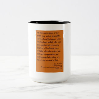 No more generations of our youth Two-Tone coffee mug
