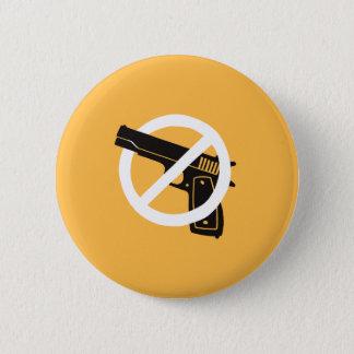 No More Guns (button - yellow) Button