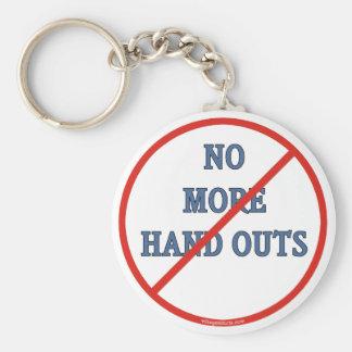 No More Handouts Basic Round Button Keychain