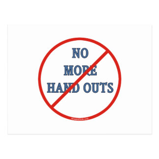 No More Handouts Postcard