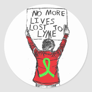 No More Lives Lost to Lyme Disease Sticker