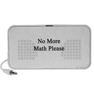 No More Math Please Travel Speakers
