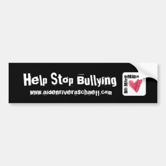 No More Meanies Anti-Bullying Bumper Sticker