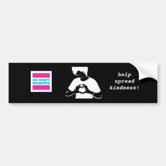 No More Meanies - Black Kindness Bumper (trans*) Bumper Sticker