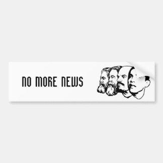 NO MORE NEWS bumper sticker Car Bumper Sticker