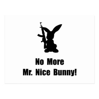 No More Nice Bunny Postcard