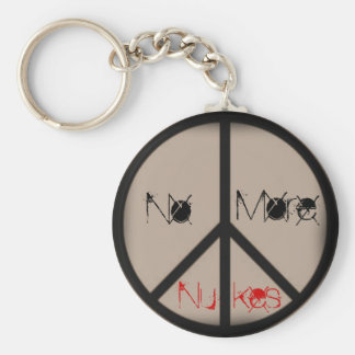 No More Nukes-Ban the Bomb Peace Sign Keychain