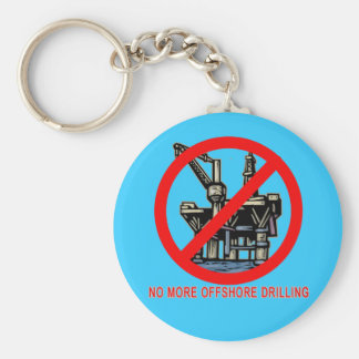 No More Offshore Drilling Tshirts and Buttons Basic Round Button Keychain