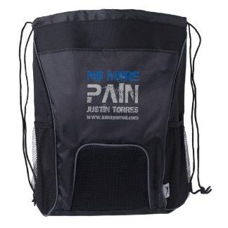 No More Pain Drawstring Backpack (Black)