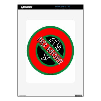 NO MORE police violence against Black People Decal For iPad