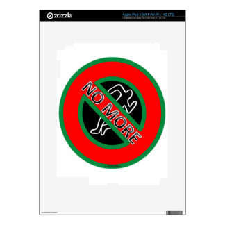 NO MORE police violence against Black People Decals For iPad 3