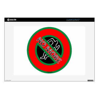 NO MORE police violence against Black People Laptop Decal