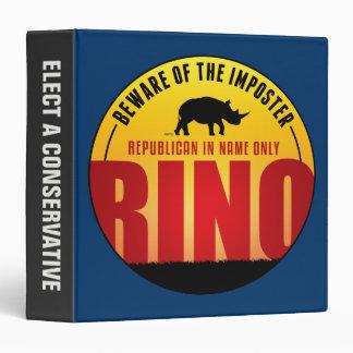 No More RINO's 3 Ring Binder
