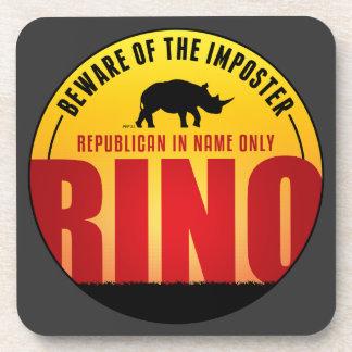 No More RINO's Beverage Coaster