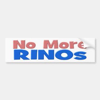 No More RINOs Bumper Sticker - pink